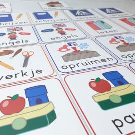 Set van 26 schoolmagneten 10 x 10 cm