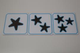 1, 2 en 3 sterren 5x5 cm