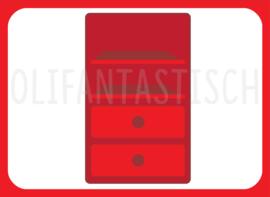 Magneet kiesbord   Kast rood