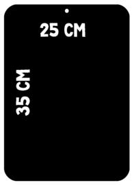 Magneetbord 35 x 25 cm | zwart