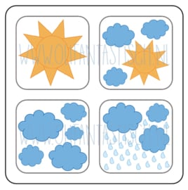 Magneetkaart | Het weer (1)