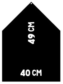 Magneetbord 40 x 49 cm | zwart (hangend)