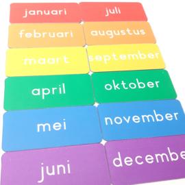 Maanden van het jaar 7x3 cm (rainbow)
