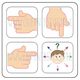 Magneetkaart | Wijzende vingers