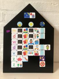 Magneetbord Huisje | zwart