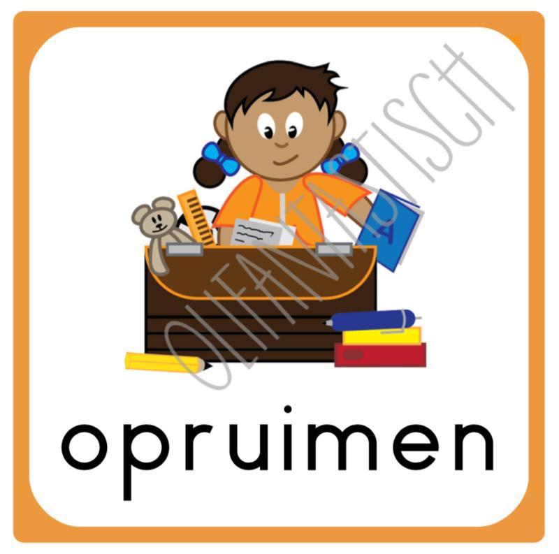 Opruimen (eigen spullen) | Dagritme school