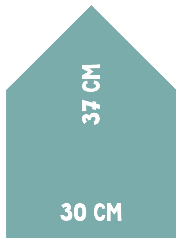 Magneetbord Huisje | turquoise