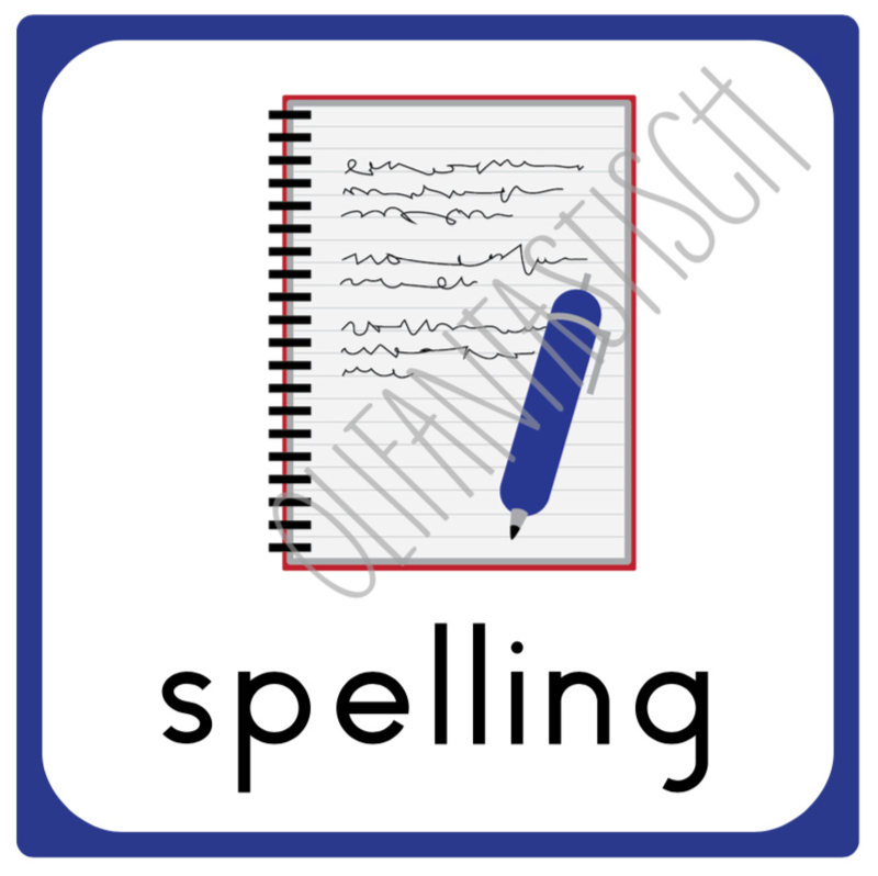 Spelling | Dagplanning school