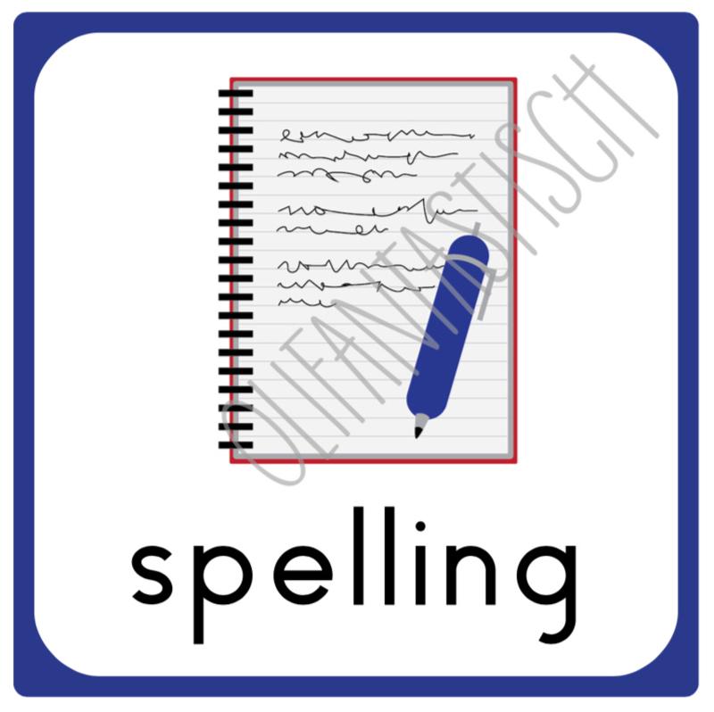 10 x 10 cm | Spelling