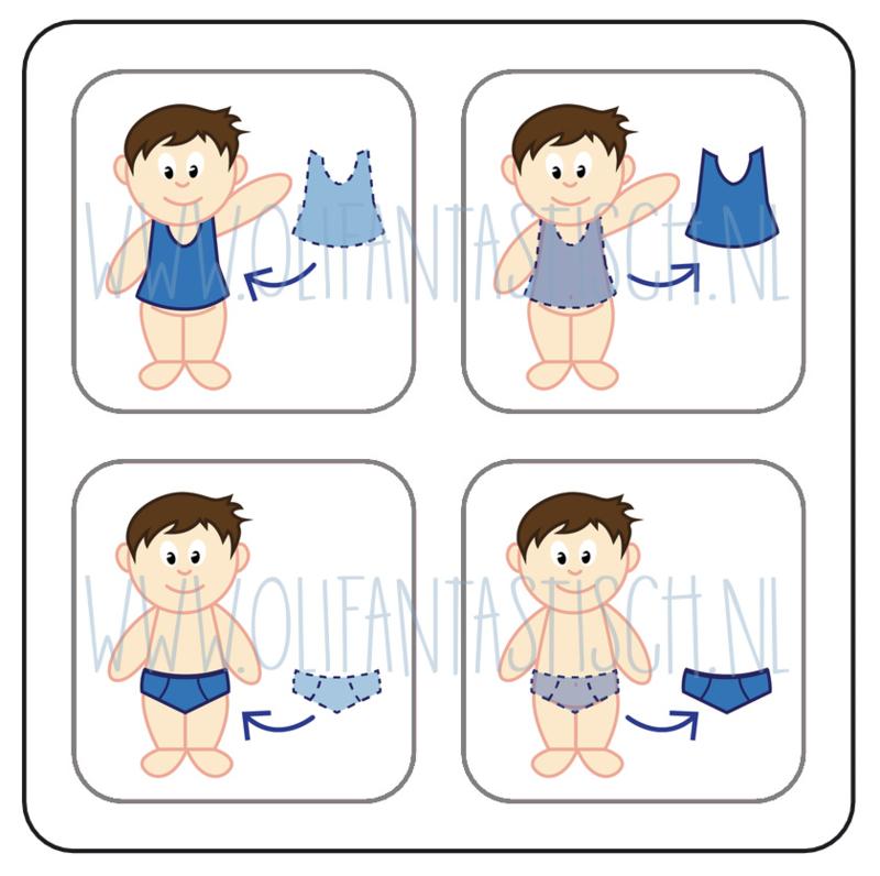 Aan- en uitkleden jongen (4)