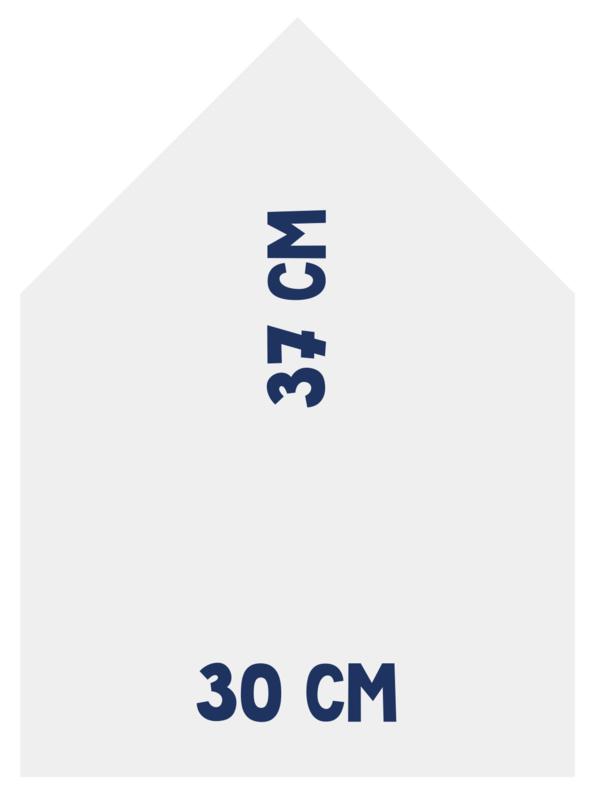 Magneetbord 30 x 37 cm | wit BESCHADIGD
