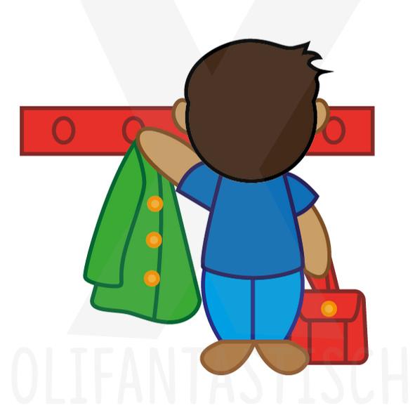 Magneetje voor planbord kind   Jas ophangen