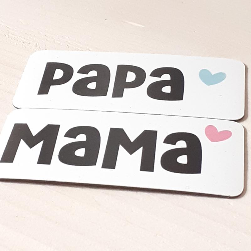 Papa of mama 7 x 3 cm