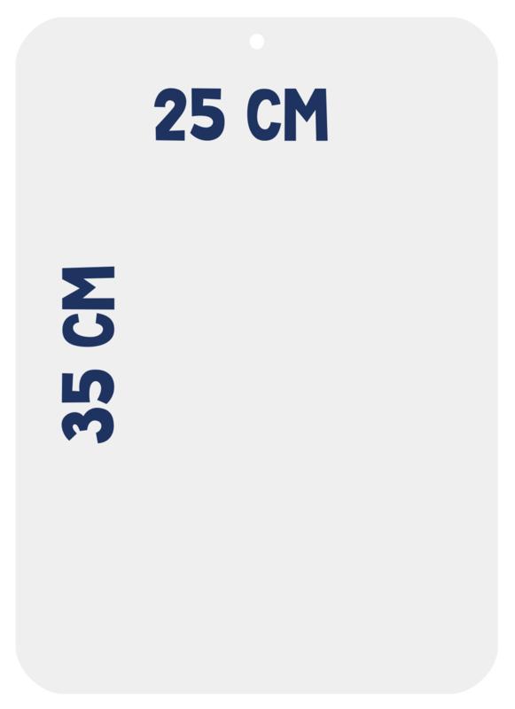 Magneetbord 35 x 25 cm | wit