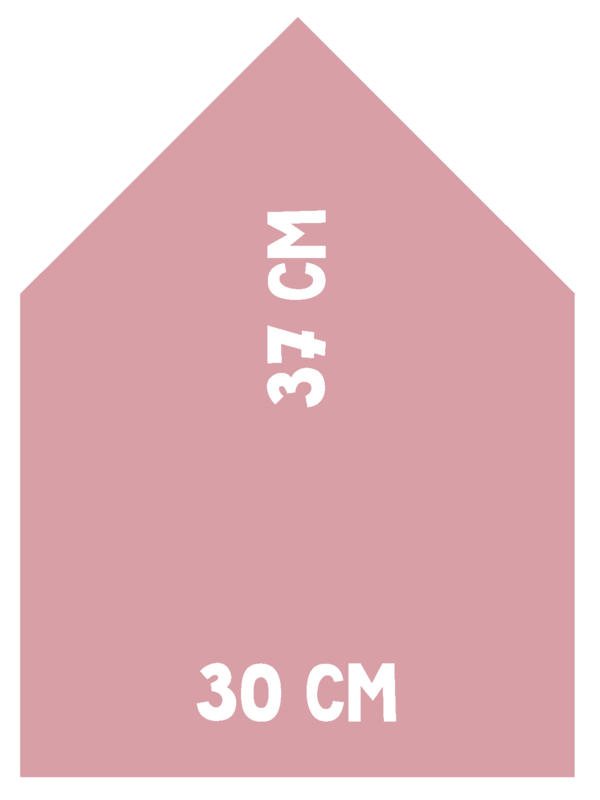 Magneetbord Huisje   roze