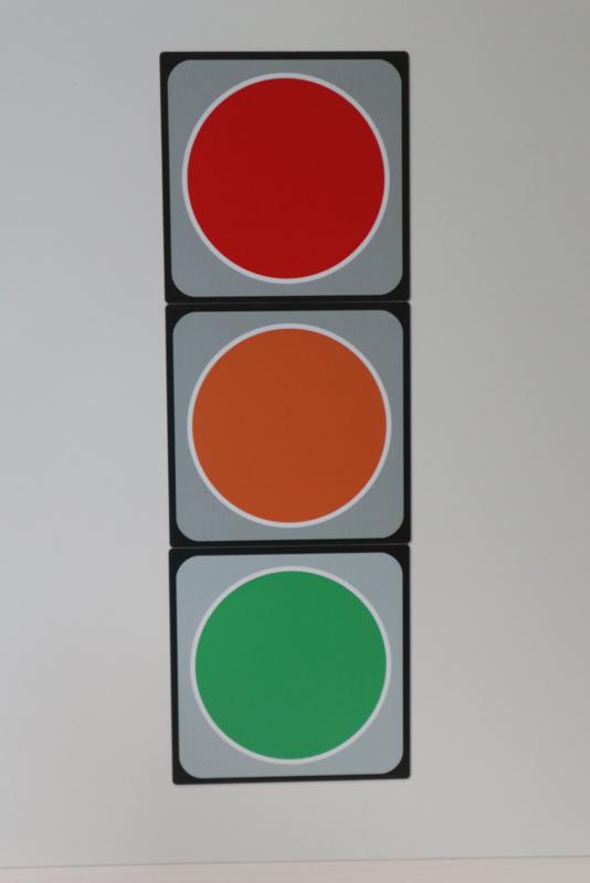 Stoplicht 10x10 cm
