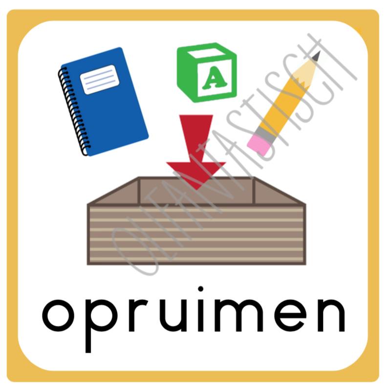 Opruimen (klas/lokaal) | Dagritme school/opvang