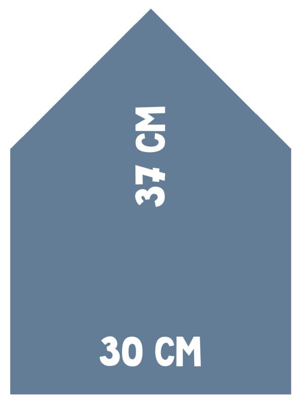 Magneetbord Huisje | blauw