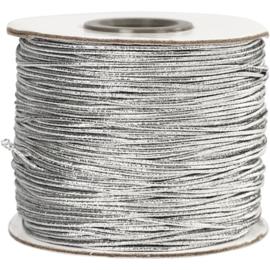 Elastisch Koord Zilver - 100 meter - dikte 1 mm