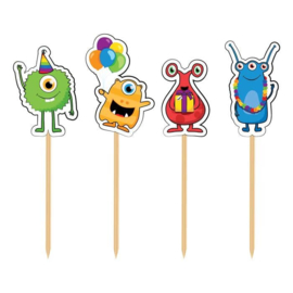 Funny Monsters Party - Prikkers - 8 st