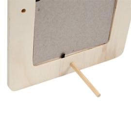 Knutselpakket Kinderfeestje - 6 x Fotolijstjes versieren met decoupage papier
