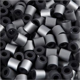 Nabbi Strijkkralen Zilver - 1100 stuks - Medium