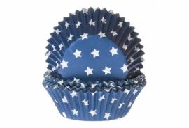 Cupcake bakvorm Stars blauw