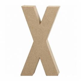 Papier-mache Letter X - 20 cm