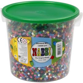 Nabbi Strijkkralen diverse kleuren - 20000 stuks