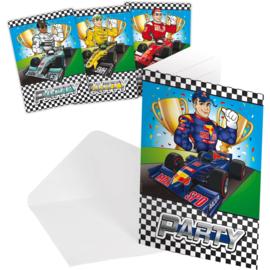 Formule 1 Feest - Uitnodigingen - 8 st
