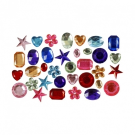 Mix Strass Stenen  10-15 mm - 15 gr