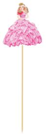 Partyprikkers Prinsessenfeest - 8 st - 20 cm