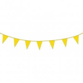 Vlaggenlijn geel 10m