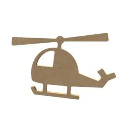 MDF Helikopter - 10 x 16 cm