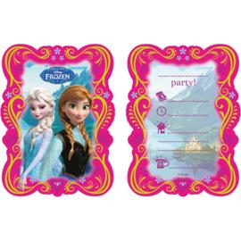 Frozen Uitnodigingen - 6 st