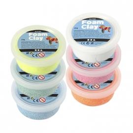 Foam Clay Glitter  - Klei - 6 kleuren x 35 gr