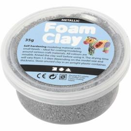 Foam Clay Metallic Zilver - Klei - 35 gr