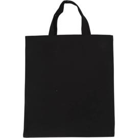 Tas van zwart katoen - 38 x 42 cm