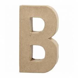 Papier-mache Letter B - 20 cm