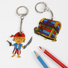 Knutselpakket Kinderfeestje - Krimpfolie Sleutelhangers / Magneten