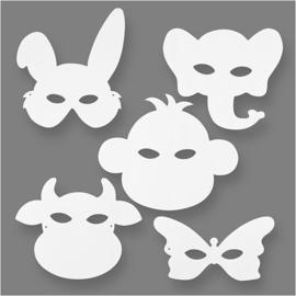 16 Dierenmaskers van papier