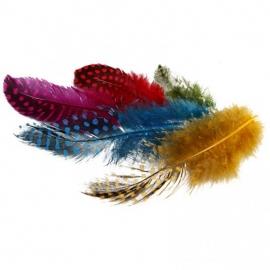 Parelhoen Veertjes - div. kleuren - 100 st