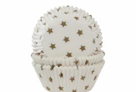 Cupcake bakvorm Stars goud
