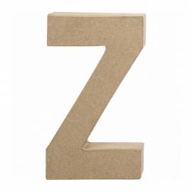 Papier-mache Letter Z - 20 cm