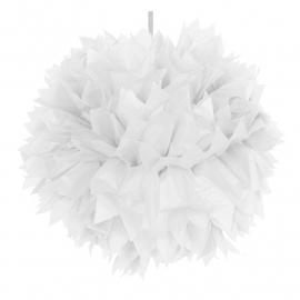 Pompoms | wit | 30 cm