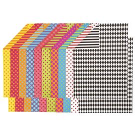 Gekleurd Karton met motieven - A4 - 250 gr - 20 vellen