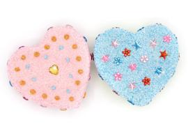 Knutselpakket Kinderfeestje - 6 x Hart Doosjes versieren