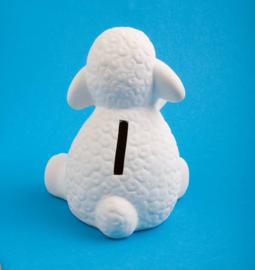 Spaarpot Sweety - wit - 13 cm
