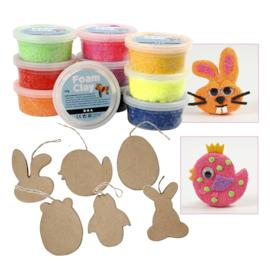 Knutselpakket Paasdecoraties Maken - voor 6 kinderen