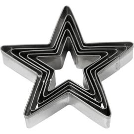 Uitstekers Ster | 5-delig | 8 cm